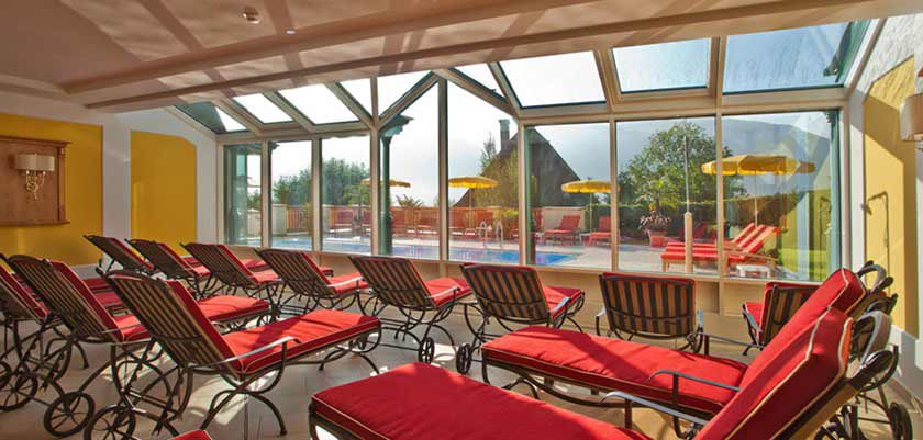 Hotel Berner, Zell am See, Austria - relaxation area overlooking the pool.jpg